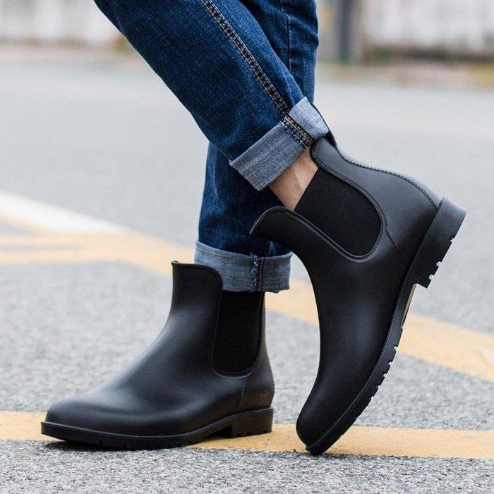999時尚防滑雨鞋男成人防水鞋套鞋低幫馬丁雨靴男大碼短筒水靴YC0310