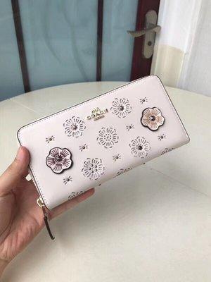 【紐約女王代購】COACH  27680 (白色)名牌皮夾 精品皮夾 拉鍊夾 皮包  美國代購