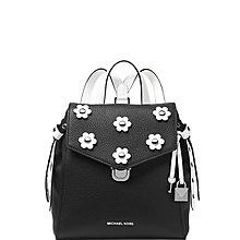 Coco 小舖 Michael Kors Bristol Small Leather Backpack 小花朵黑色後背包
