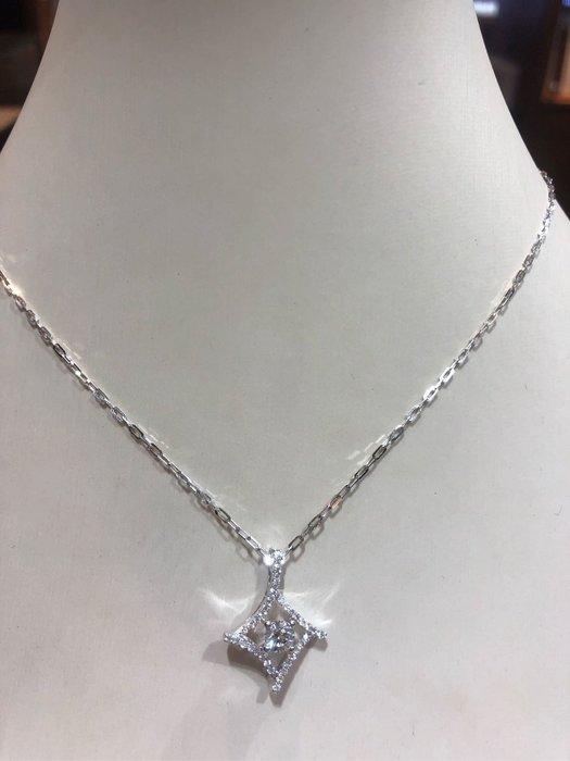 天然50分鑽石項鍊,八心八箭完美車工鑽石超閃,超值優惠商品32800,鑽石超閃亮超白,送14K金項鍊