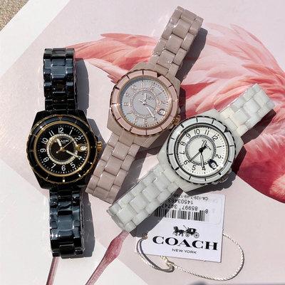 ㊣國際品牌COACH庫㊣ COACH 14503461 14503463【2件免運】陶瓷女手錶 女生腕錶時裝錶 日常防水