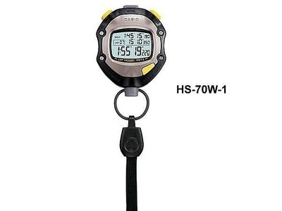 CASIO公司貨附發票 碼錶計數器足球碼錶 HS-70 W  200筆圈數教練指定~HS-70TW  HS-3V 雲林縣