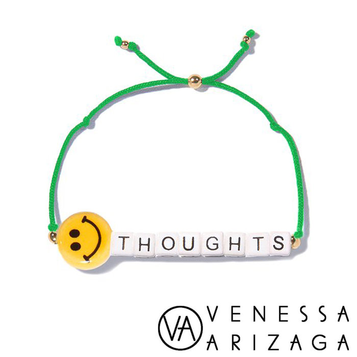 Venessa Arizaga HAPPY THOUGHTS 笑臉手鍊 亮綠色手鍊
