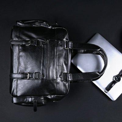 【BDCT 男裝服飾海外代購店】2018新款正韓男包 休閑時尚手提包 潮流皮質單肩電腦包大容量背包
