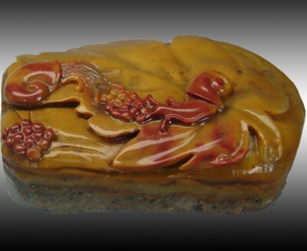 【頑石點頭】 壽山石 巧色杜陵石 蝸牛小擺件112844 相石巧雕