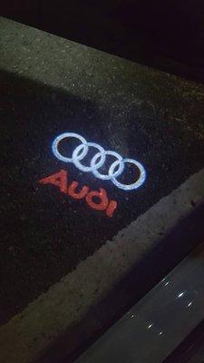 【Audi 】投射迎賓燈 簡單DIY安裝 A3/A4/A6/A7/A8/Q5/Q7/B9/C7/C7車系(附安裝圖)