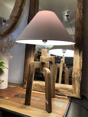 Triangle Table Lamp-老柚木三腳桌燈 (LW25 H63 cm)