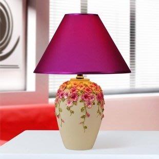 粉紅精品玫瑰屋~現代簡約台燈臥室燈具客廳燈床頭燈飾 / 三色堇花瓶燈  ~現貨+預購