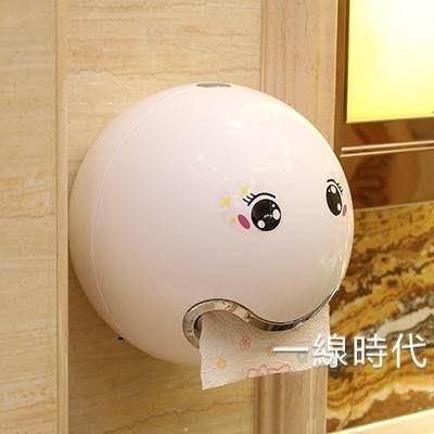 可愛粘貼式廁所捲紙盒衛生間紙巾盒免打孔創意紙巾架捲紙架抽紙盒WY