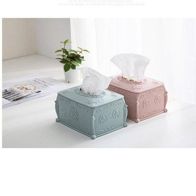 素雅色玫瑰面紙盒