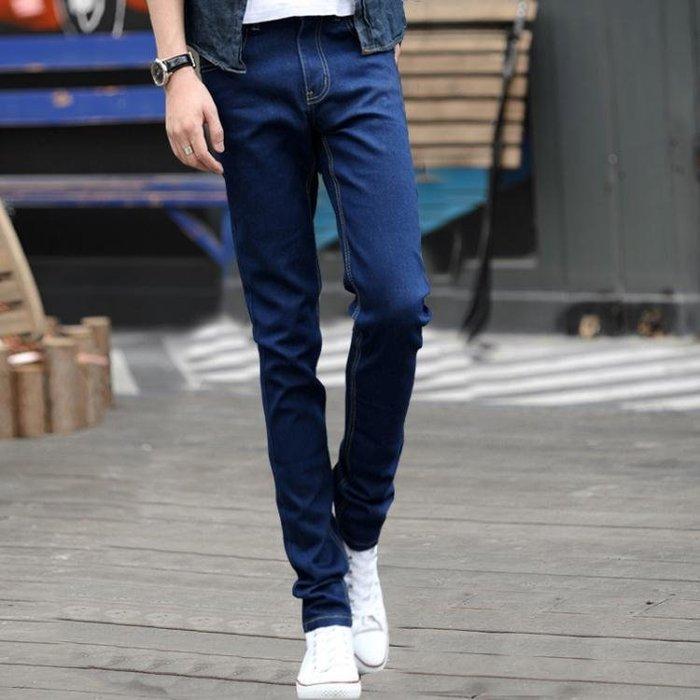 牛仔褲 新款彈力男士牛仔褲男修身小腳褲黑色休閒直筒褲子男韓版潮流sys