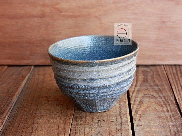 +佐和陶瓷餐具批發+【XL07095-5 深藍刷毛削紋4井-日本製】日本製 飯碗 湯碗 分享缽 井 碗缽 優格碗 餐具