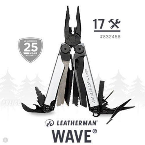 LEATHERMAN WAVE 工具鉗-黑銀限定款 #832458【AH13151】99愛買