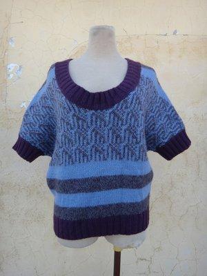 jacob00765100 ~  正品 SNS SINGLE NOBLE 獨身貴族 紫色 厚織毛衣 size: 38
