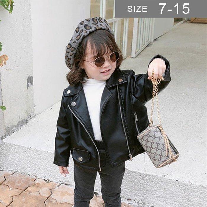 韓版男女童皮衣外套。ROUROU童裝。春秋男女童中小童仿皮衣PU外套 皮衣外套 0333-276