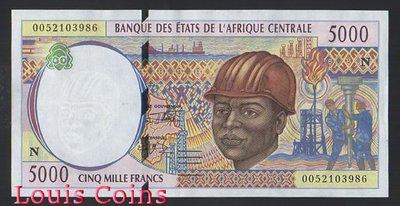【Louis Coins】B655-CONGO (Republic) --2000赤道幾內亞紙幣5.000 Francs