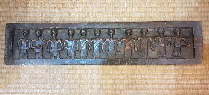 原住民老雕刻木雕飾板