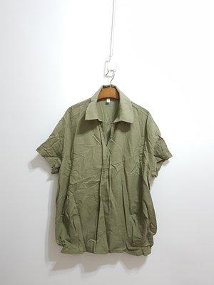 A3韓國衣衣…shine...遮小腹襯衫…綠