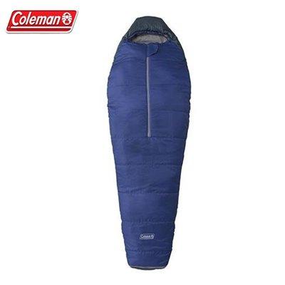 【大山野營】Coleman CM-6924 圓錐形海軍藍睡袋/C5 木乃伊型睡袋 纖維睡袋 化纖睡袋 露營睡袋 保暖睡袋