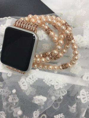 適用Apple watch珍珠款手表帶適用于蘋果手表帶iwatch替換婉帶