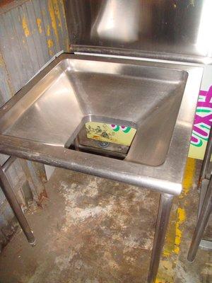 ╭。☆║彰化萬物二手貨║☆。╮---中古二手不銹鋼廚餘槽 廚餘桶