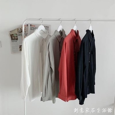 滿額免運 襯衫男潮流寬鬆韓版夏季薄款上衣百搭帥氣休閒長袖襯衣