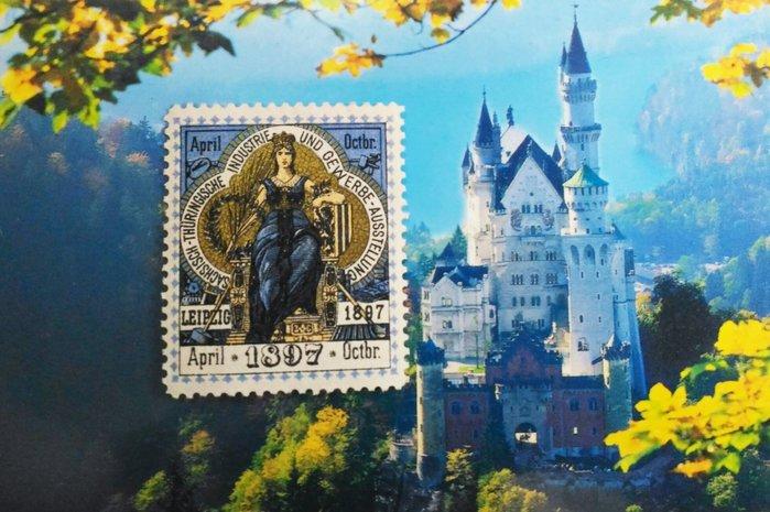 德意志(Germany) 1897年 Reklamemarken 灰姑娘廣告郵票 - 萊比錫奧托曼展覽