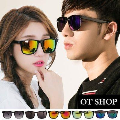 OT SHOP太陽眼鏡‧抗UV400‧台灣製‧2017中性情侶款復古方細框水銀鏡感時尚墨鏡‧七色‧M07