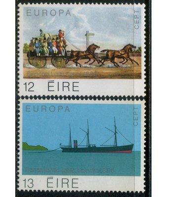 郵紳_50288_愛爾蘭共和國_鋪設跨大西洋電纜(Europa)_1979年_一套2全_原膠新票_美品如圖_背潔無貼