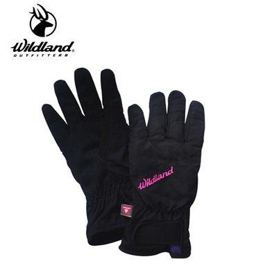 丹大戶外用品【Wildland】荒野 女PR棉防水防風觸控手套 型號 W2003-54 黑色