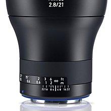 九晴天 租鏡頭 租相機 出租~ZEISS Milvus 21mm f2.8 (Canon EF)