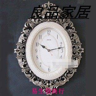 【易生發商行】藏寶屋。豪華簡歐藝術客廳大掛鐘個性靜音鐘表時尚創意鐘裝飾掛F6365