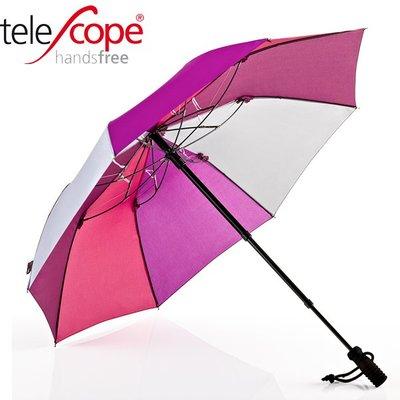德國[EuroSCHIRM] 全世界最強雨傘 TELESCOPE HANDSFREE / 免持健行傘 小(深紫)