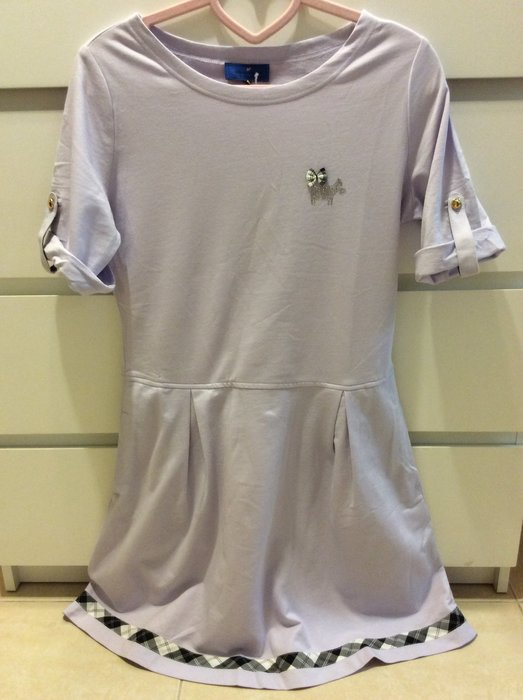 Scottish house 淡紫色棉質舒適洋裝 賣場有Knightsbridge