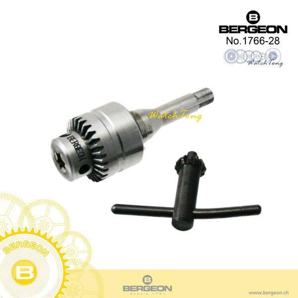 【鐘錶通】B1766-28《瑞士BERGEON》雅格錶發條鑰匙JACOB'S chuck & key├機械機芯維修┤