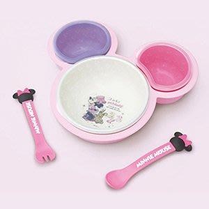 ~小糖雜貨舖~ Akachan 阿卡將 Disney 離乳餐具組 餐盤 碗 湯匙 6件組 ~ 米妮