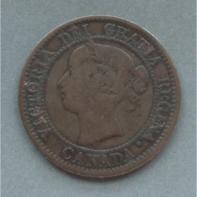 加拿大 CANADA 1859 維多利亞  1分  銅幣   280-412