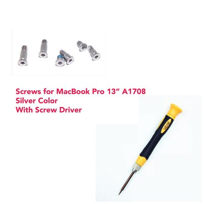 """MacBook Pro 13"""" without Touch Bar Silver A1708 底殼螺絲 螺絲批 Screws & Screwdriver set"""