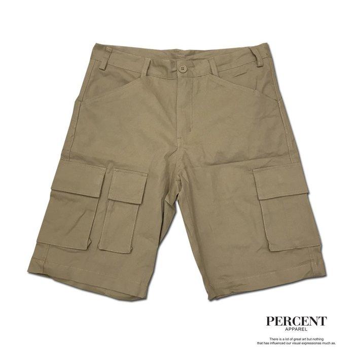 PERCENT% WS6001 多口袋機能工作短褲  卡其