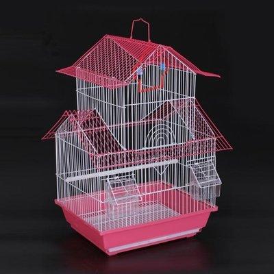 大號雙層別墅加粗鳥籠子鸚鵡八哥畫眉鷯哥相思鳥籠鳥窩鳥用品