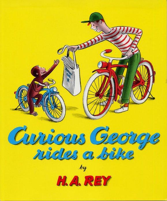 *小貝比的家*CURIOUS GEORGE RIDES A BIKE /平裝/3~6歲/汪培珽--第三階段