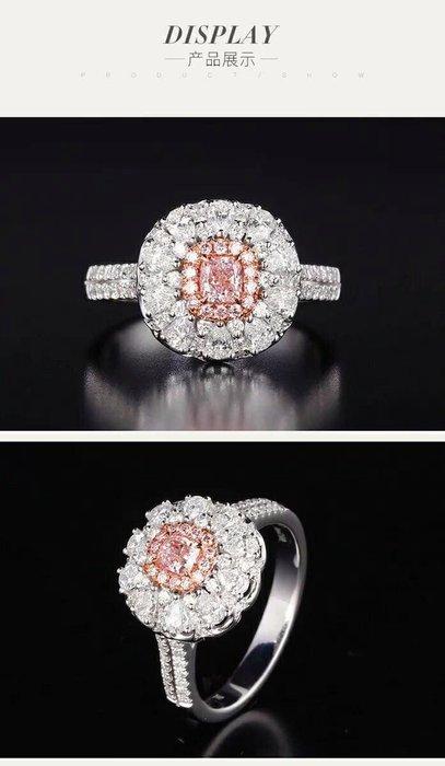 莫桑鑽寶真金14K白金玫瑰金鉑金戒檯可選色鑲嵌1克拉實驗室粉色寶石成份與天然粉寶石完全一樣高貴雅典真鑽石戒指求婚 結婚情人節禮物莫桑石 莫桑鑽寶特價訂製