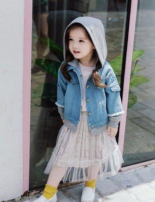 【Mr. Soar】 **清倉** D236 秋季新款 韓國style童裝女童杏色內絲絨外層紗裙 現貨