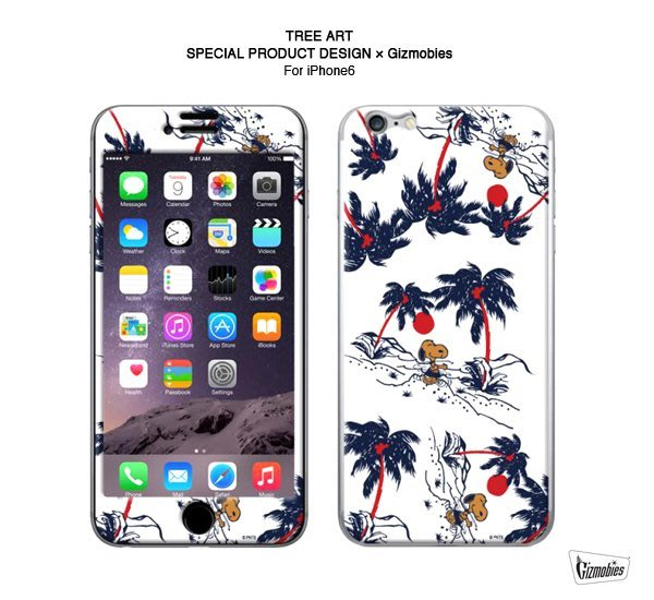 GOODFORIT /日本Gizmobies Snoopy TREE ART iPhone 6/6S史努比聯名款保護貼