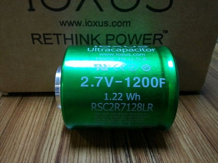 IOXUS 2.7V-1200F 超級電容 美國製