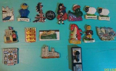 歐洲 (英國製) 買回  poly 製 英國著名觀光景點城市~ 紀念磁鐵(冰箱)