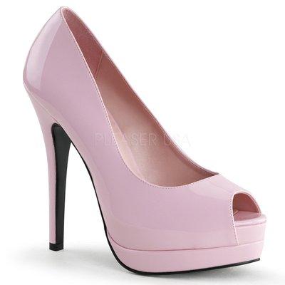 Shoes InStyle《五吋》美國品牌 BORDELLO 原廠正品漆皮厚底高跟魚口鞋 有大尺碼『粉紅色』