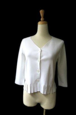 *Beauty*義大利D.EXTERIOR純白色鬚邊針織衫外套 2990元 PH