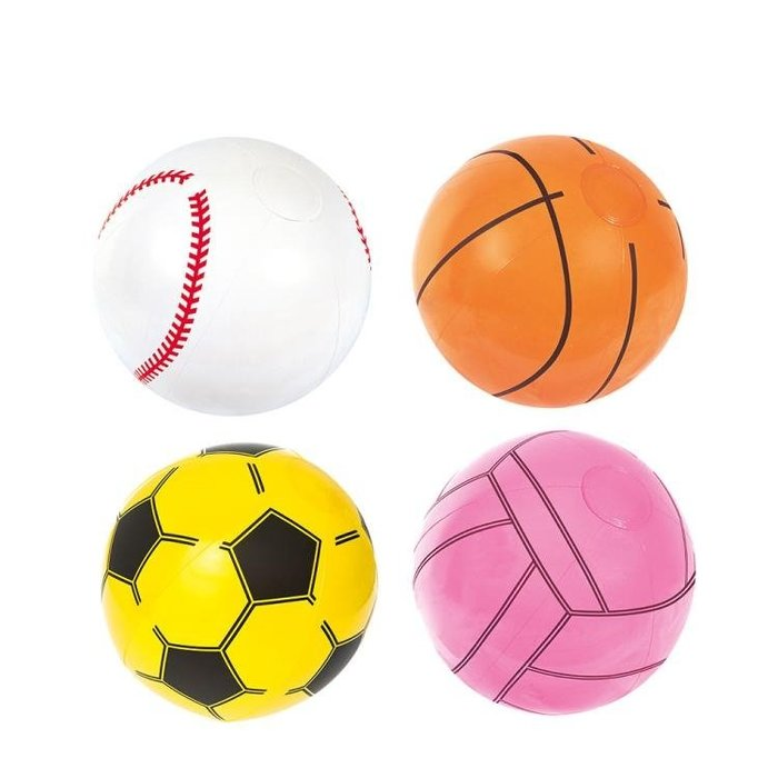免運 可開發票 充氣籃球足球排球棒球加厚沙灘球海灘球充氣球 水球戲水玩具 【花開物語】