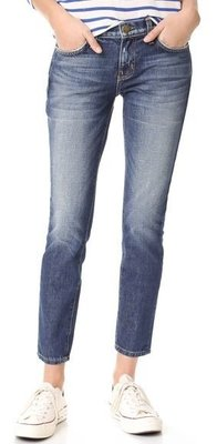 ◎美國代買◎Current/Elliott TheEasy Stiletto大腿刷白色微寛鬆褲管八分牛仔褲
